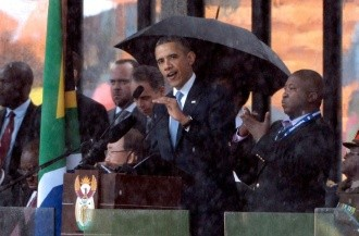 Obama pronuncia anticipado discurso en honor a Mandela